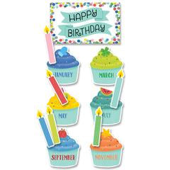Creative Teaching Press Color Pop Birthday Mini Bulletin Board Set (8698)
