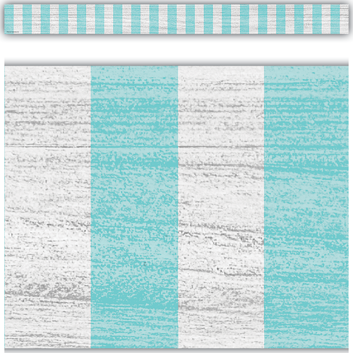 Teacher Created Resources Vintage Blue Stripes Straight Border Trim (TCR8702)