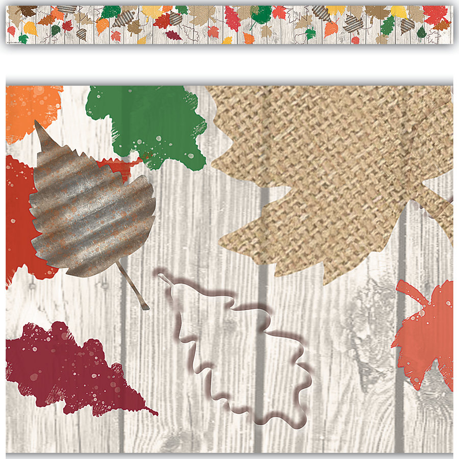 Home Sweet Classroom Happy Fall Straight Border Trim, 12 pcs, 35'  (TCR 8707)