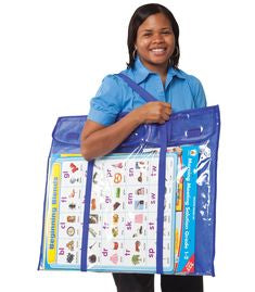 "Carson Dellosa Deluxe Bulletin Board Storage Pocket Chart 30"" x 24"" (CD-180000)"