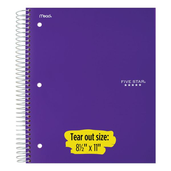 Five Star® Wirebound Notebook - 1 Sub 100ct CR, Assorted Colors (06206)