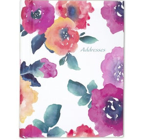 "Mead Floral Telephone Address Book 5.5"" x 8.5"" (5016-400)"