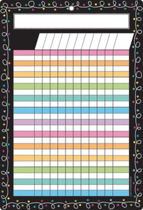 "Ashley Productions® Smart Poly® Chart Dry Erase Chalk Dots w/ Loops Incentive Chart, 13"" X 19"" (ASH91049)"