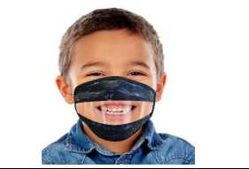 READ MY LIPS Transparent Mask CHILD SIZE 4-7