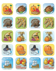 Teacher Created Thanksgiving Stickers, 120 Count TCR 1255