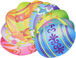 Beistle Mini Easter Egg Cut Outs, Pack of 10 (44307)