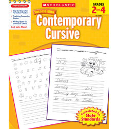 Scholastic Success with Contemporary Cursive Workbook Grades 2-4 (SC-520091)