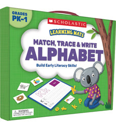 Scholastic Learning Mats - Match, Trace & Write Alphabet Grades PK-1 (SC-823961)