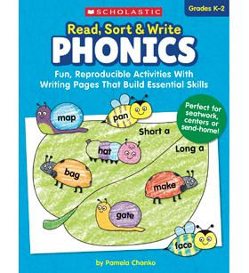 Scholastic Read, Sort, & Write Phonics Workbook