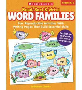 Scholastic Read, Sort, & Write Word Families Workbook