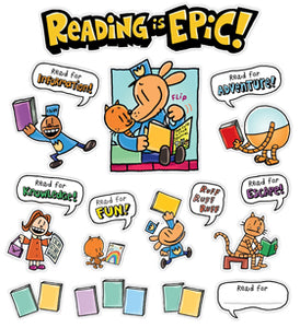 Scholastic Dog Man Reading Is Epic Bulletin Board Set (862612)