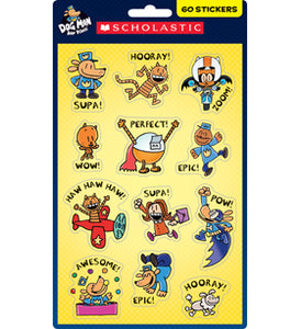 Scholastic Dog Man Stickers, 60 Stickers (862617)