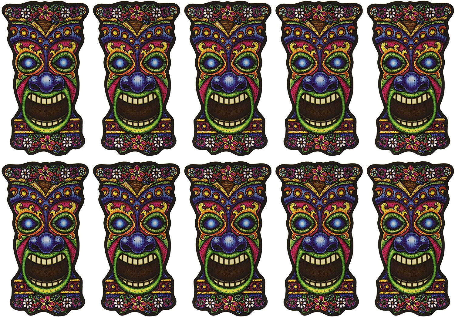 Mini Tiki Cutouts, 10 Pack, 5 in. (57077)