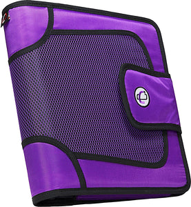 "Case-It Zipper Binder 2"" Capacity, Expanding Files, Available in Blue or Purple"