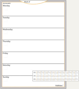 "At-A-Glance WallMates Undated Dry Erase Monthly Planning Surface 18"" x 24"" AW503028"