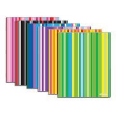 BAZIC Stripes 2-Pocket Poly Folder/  Portfolio, Assorted Colors (3169)