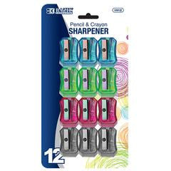 BAZIC Transparent Square Pencil Sharpener (12/pack) (1912)