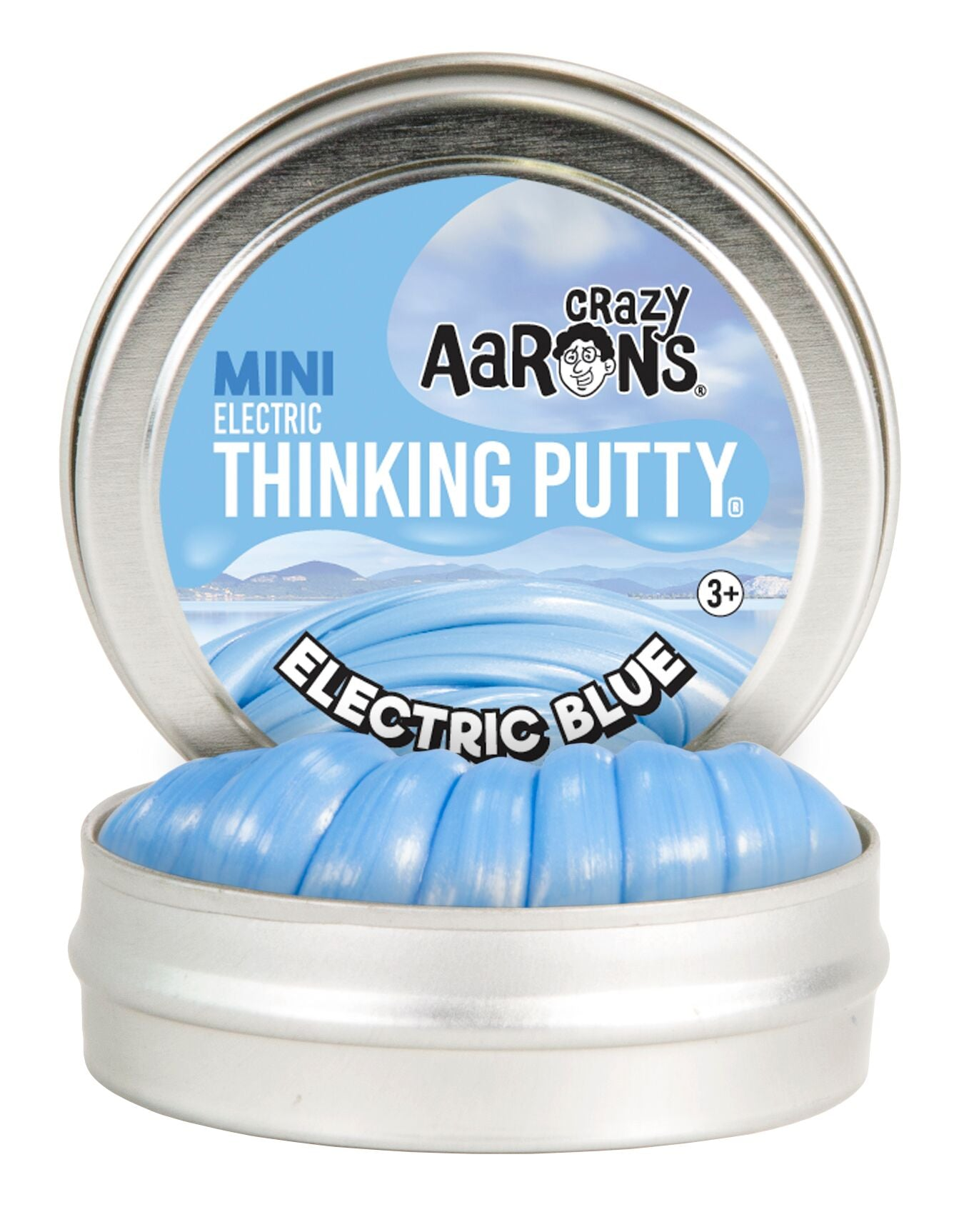 """Crazy Aaron/'s Thinking Putty Mini 2/"""" Tin Electric Ruby"""