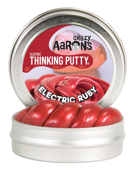 "Crazy Aaron's Mini Electric Ruby  2"" Thinking Putty Tin"