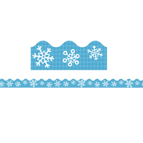 "Carson Dellosa Snowflakes Scalloped Border, Winter 2.25"" x 39' (CD108224)"