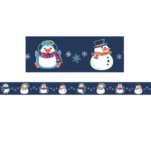 "Carson Dellosa Winter Fun Snowman Straight Borders, 3"" x 36' (CD108230)"