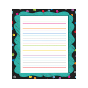 Carson Dellosa Colorful Chalkboard Design Notepad, 50 Sheets (CD-151077)