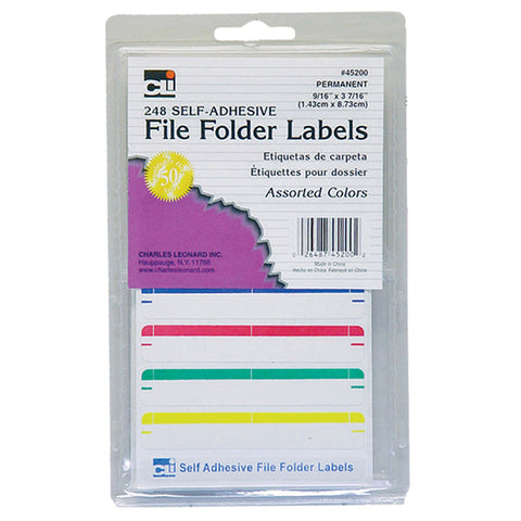 Charles Leonard Self-Adhesive File Folder Labels, 240 Count (CHL45200)