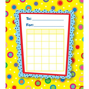 Creative Teaching Press Dots on Yellow Motivational Charts (CTP 1416)