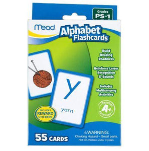 Mead® Alphabet Flashcards, Grades P-1 (63038)