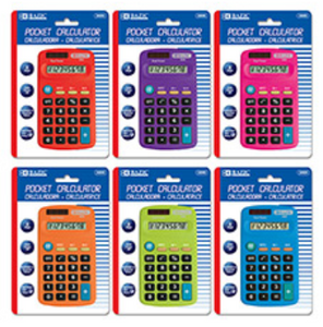 Bazic 8-Digit Dual Power Pocket Size Calculator (3009)