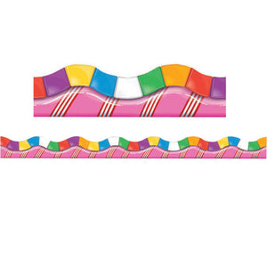 Candy Land Dimensional Look Extra Wide Die Cut Deco Trim (58080)