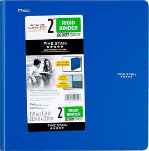 "Five Star®  2"" Rigid Poly Binder (29254)"