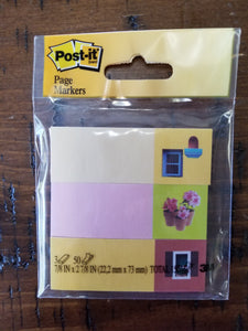 Post it Designer Page Markers, Flower Pot Window Decor (150 Markers)