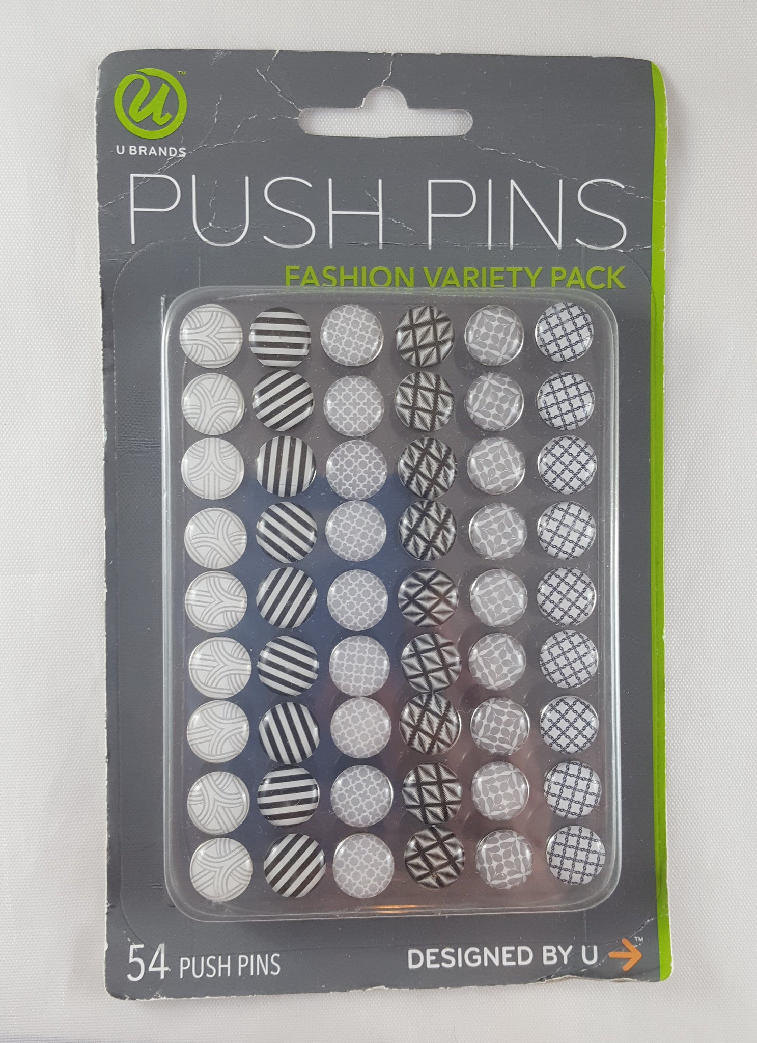 U Brands Fashion Steel Push Pin