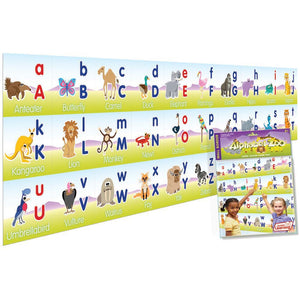Junior Learning Alphabet Zoo Wall Borders (JL130)