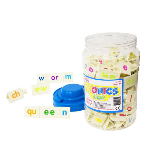 Junior Learning Phonics Tri-Blocks Tub, Grades 1-3 (JL175)