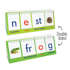Junior Learning Blend Flips Double-Sided Stand, Beginning & Ending Sounds (JL457)