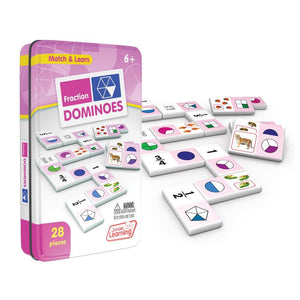 Junior Learning Fraction Dominoes Math Game(JL485)