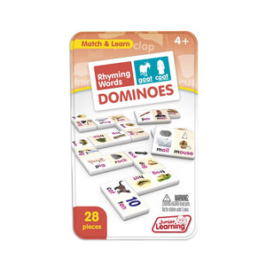 Junior Learning RHYMING WORDS Dominoes Game (JL490)