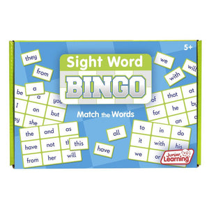 Junior Learning SIGHT WORD Bingo Game Grades K-1 (JL545)