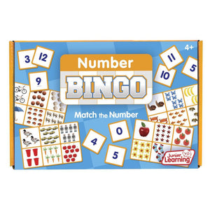 Junior Learning Matching NUMBER Bingo Game Ages 4+ (JL546)