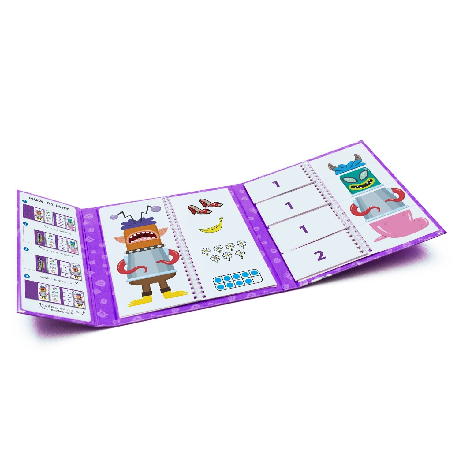 Junior Learning NUMBERS MONSTER FLIPS BOOK PreK Kindergarten (JL638)