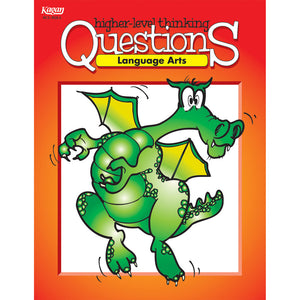 Kagan Language Arts Higher Level Thinking Questions Workbook Grades 3-12 (KA-BQLA)