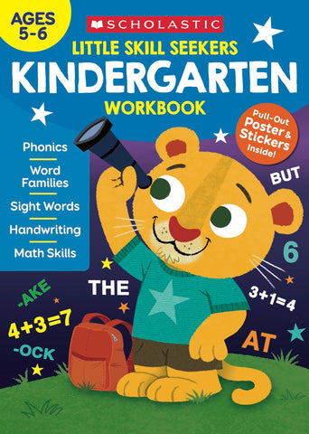 Scholastic Little Skill Seekers KINDERGARTEN Workbook, Ages 5-6 (860243)