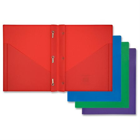 Mead® Color Talk™ Pocket/Prong Poly Portfolio (34720)