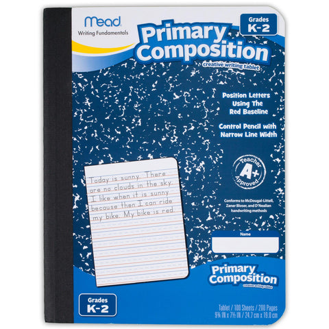 Mead® Primary Composition Book - full page ruled 100ct (09902)