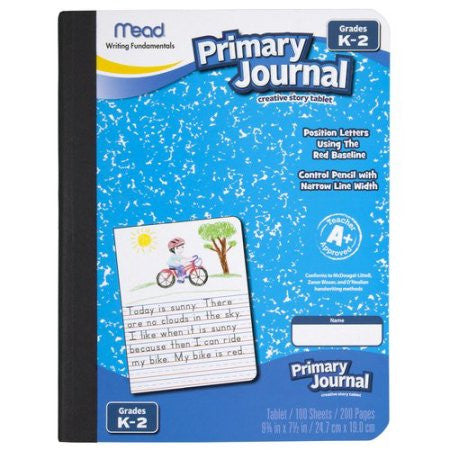 Mead® Primary Journal - half page ruled 100ct (09554)