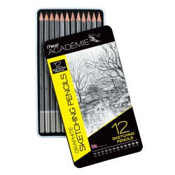 Mead® Academie™ Graphite Sketching Pencil Set (H, 2B, 4B), Pack of 12