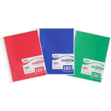 Mead® Spiral® Notebook 5 Subject 180ct Wide-Ruled 05680)