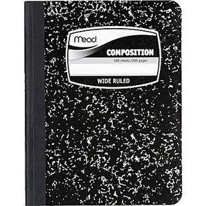Mead® Square Deal® Black Marble Comp Book 100 ct WR (09910)